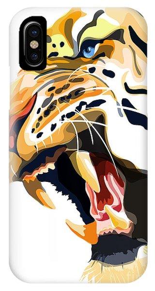 Wild Life iPhone Case - Tiger Roar by Sassan Filsoof