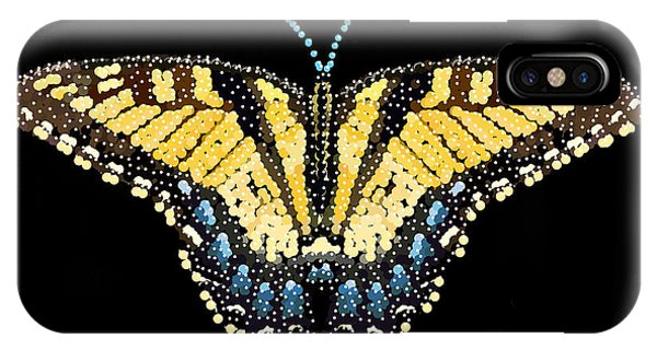 Tiger Swallowtail Butterfly Bedazzled IPhone Case