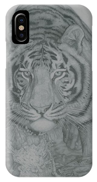 Tiger Through Water Phone Case by Rich Colvin