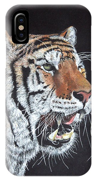 Tiger Tiger Burning Bright Phone Case by John Hebb
