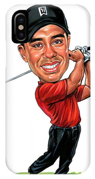 Tiger Woods Phone Case by Art