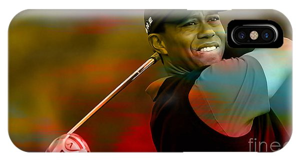 Golf iPhone Case - Tiger Woods by Marvin Blaine