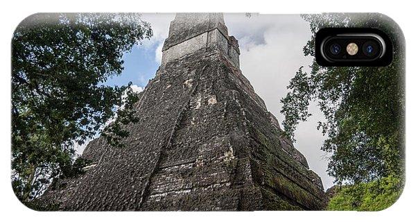 Tikal Pyramid 1b IPhone Case