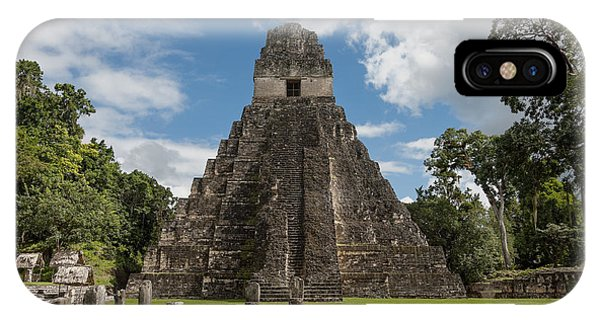 Tikal Pyramid 1j IPhone Case