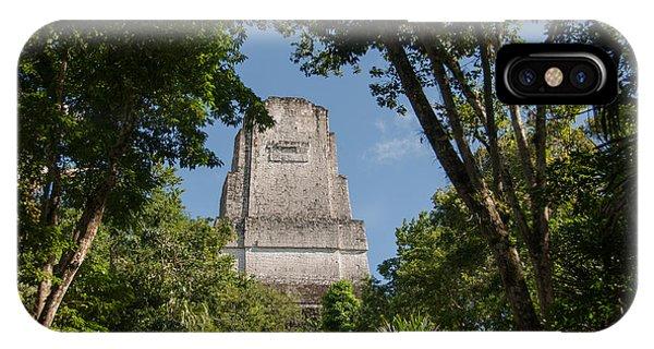 Tikal Pyramid 4b IPhone Case
