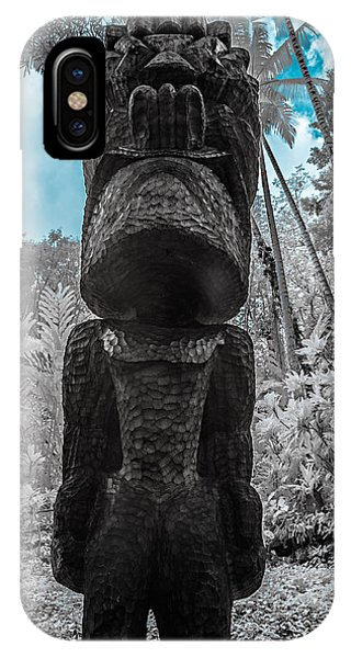 Tiki Man In Infrared IPhone Case