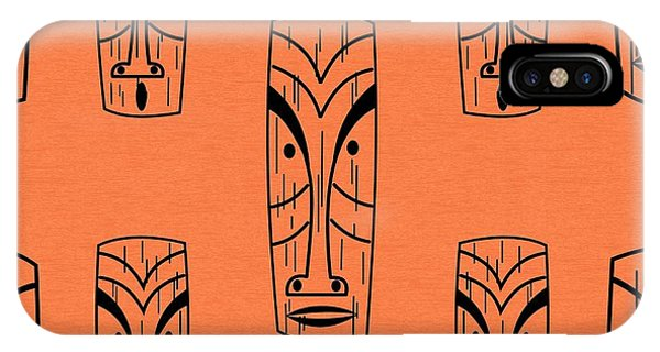 Tiki On Orange Pillow IPhone Case