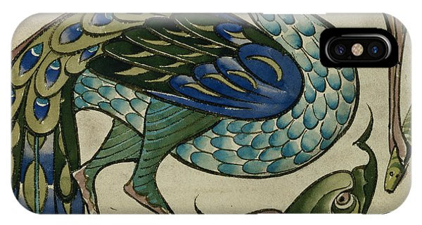 Tile Design Of Heron And Fish IPhone Case