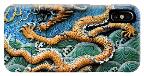 Forbidden City iPhone Case - Tiled Nine-dragon Wall At Belhai Park by Animal Images