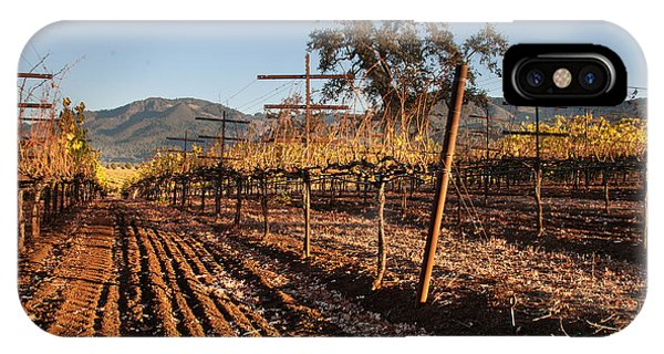 Tilling The Vineyards Phone Case by Kent Sorensen