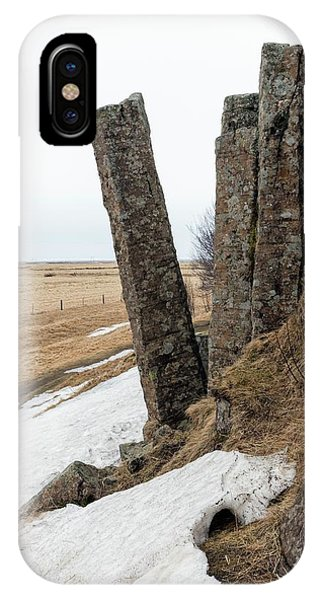 Basalt iPhone Case - Tilted Basalt Column by Dr Juerg Alean