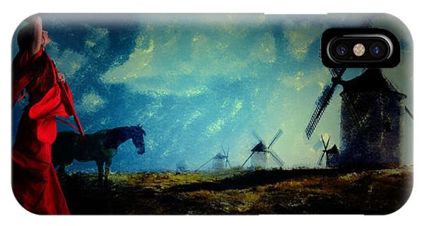 Tilting At Windmills IPhone Case