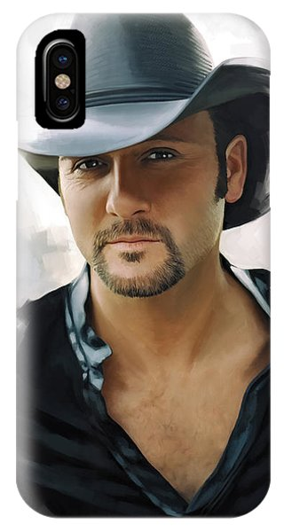 Tim Mcgraw Artwork IPhone Case