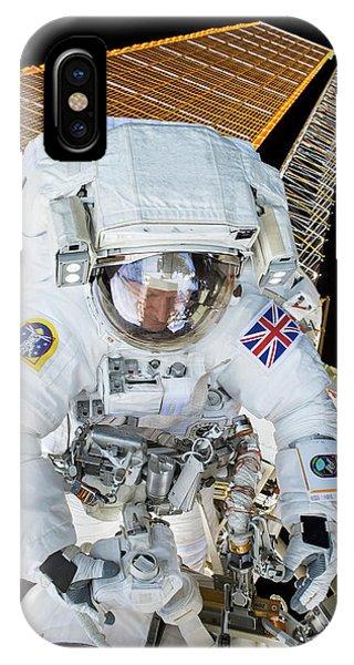 Emu iPhone Case - Tim Peake's Spacewalk by Nasa