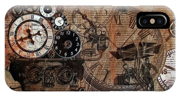 Time Flies Phone Case by Jo Ann Koch