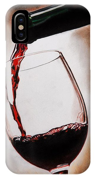 Wine Pouring iPhone Case - Time For Wine by Brian Broadway