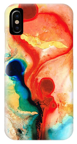 Time Will Tell - Abstract Art By Sharon Cummings IPhone Case