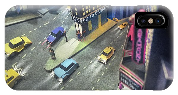 iPhone Case - Times Sq. At Night by Ron Morecraft