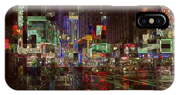 Times Square At Night - After The Rain IPhone Case