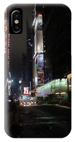 Times Square From 7th Ave IPhone Case