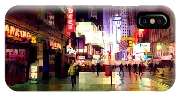 Times Square New York - Nanking Restaurant IPhone Case