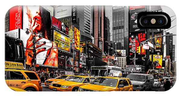 Empire iPhone Case - Times Square Taxis by Az Jackson