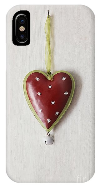 Tin Heart Hanging On Wood IPhone Case