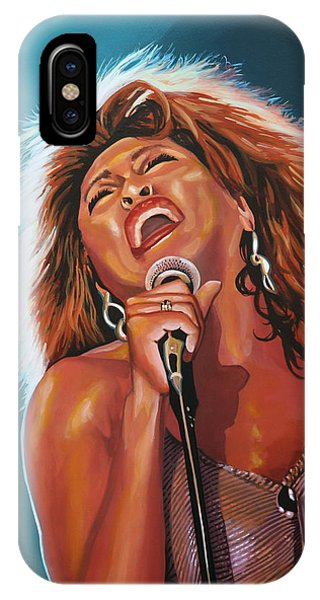 Popstar iPhone Case - Tina Turner 3 by Paul Meijering
