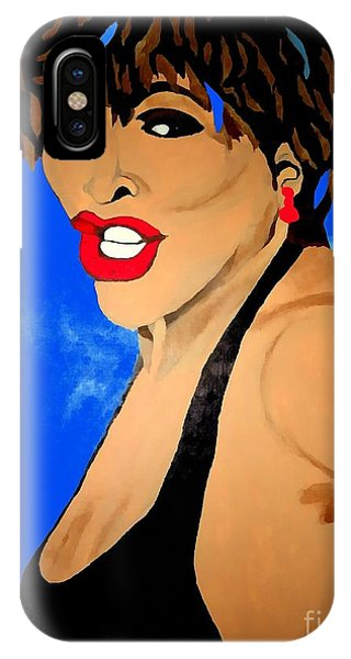 Tina Turner Fierce Blue Impression IPhone Case