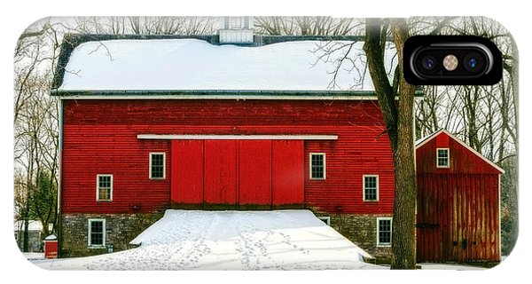 Tinicum Barn In Winter II IPhone Case