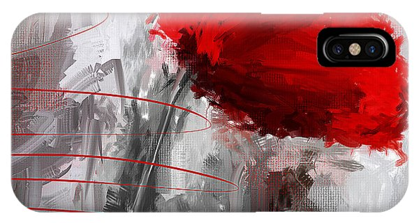 Poppies iPhone Case - Tint Of Red by Lourry Legarde