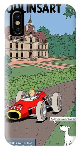 Tintin Grand Prix De Moulinsart 1965  IPhone Case