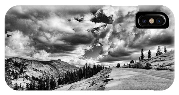 Road iPhone Case - Tioga Pass by Cat Connor
