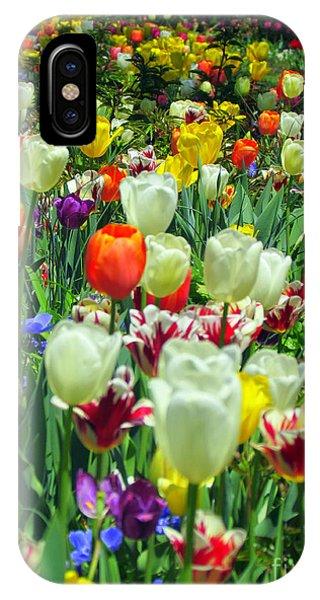 Tiptoe Through The Tulips IPhone Case