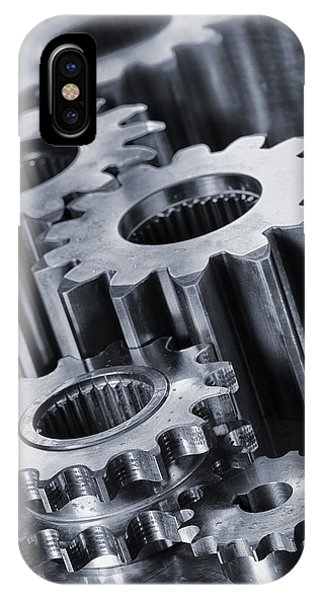 Titanium Gears And Cogs IPhone Case