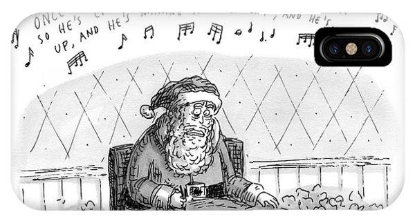 Title: Obsessive-compulsive Santa. Santa Is Shown IPhone Case