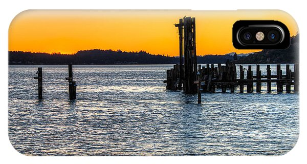 Titlow Beach Park Sunset Tacoma Wa IPhone Case