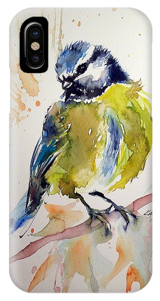 Titmouse iPhone Case - Titmouse by Kovacs Anna Brigitta