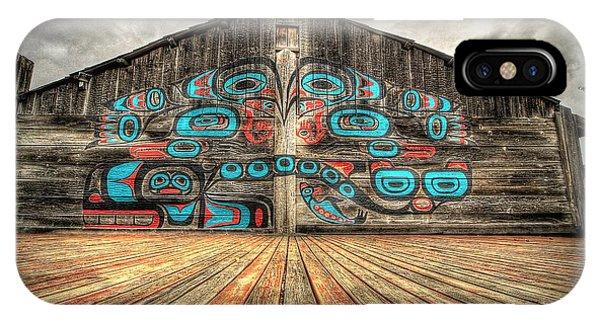 Tlingit Tribal House Haines Alaska IPhone Case