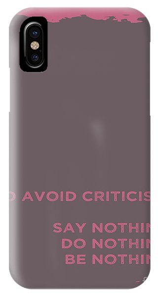 Achievement iPhone Case - To Avoid Criticism by L Bee