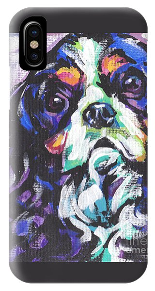 King Charles iPhone Case - To Cav Or Cav Not by Lea S