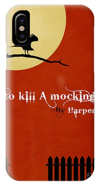 Mockingbird iPhone Case - To Kill A Mockingbird Book Cover Movie Poster Art 1 by Nishanth Gopinathan