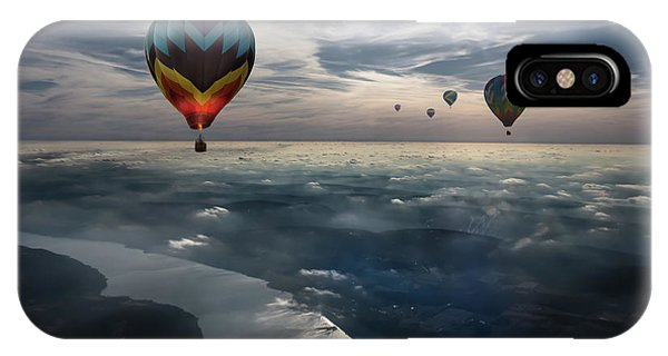 Hot Air Balloons iPhone Case - To Kiss The Sky by Heather Bonadio