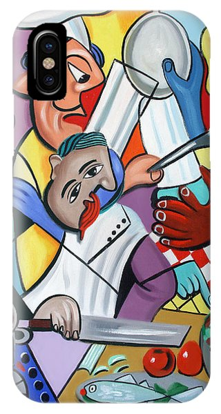 IPhone Case featuring the painting To Many Cooks In The Kitchen by Anthony Falbo