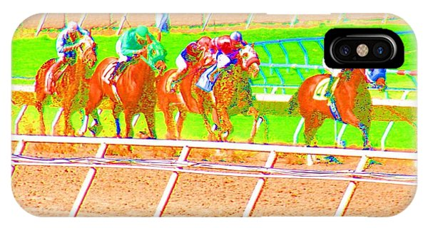 IPhone Case featuring the photograph To The Finish Line by Cynthia Marcopulos