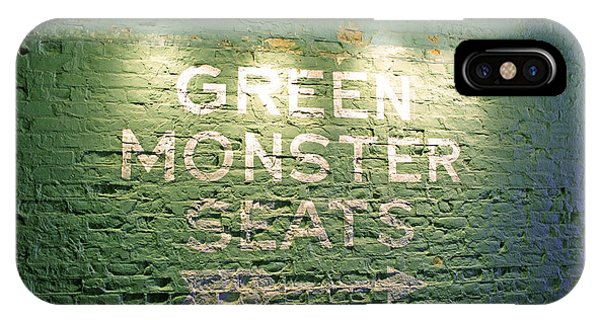 Green iPhone Case - To The Green Monster Seats by Barbara McDevitt