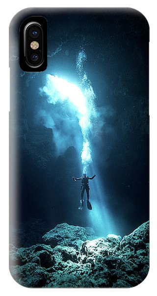 Dive iPhone Case - To The Heaven by Charlie Jung