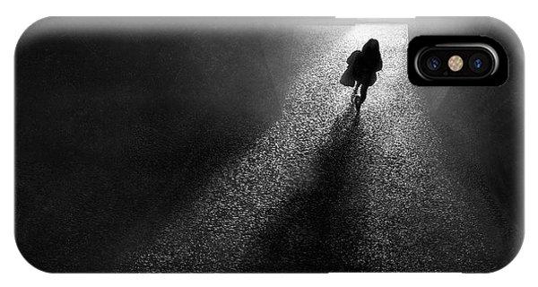 Shadow iPhone Case - To The Light by Ekkachai Khemkum