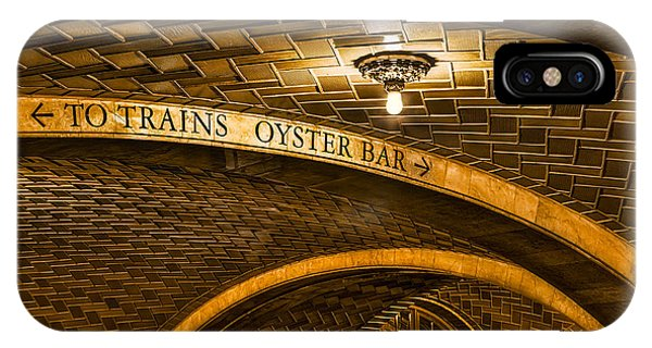 Oyster Bar iPhone Case - To Trains And Oyster Bar by Susan Candelario