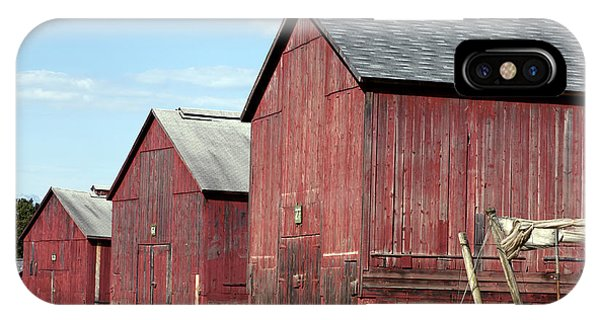 Tobacco Barns In Windsor Connecticut IPhone Case